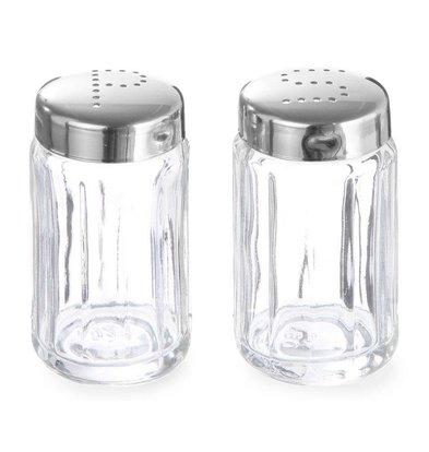 Hendi Zoutstrooier Glas | Met RVS Dopje | Ø40x70mm