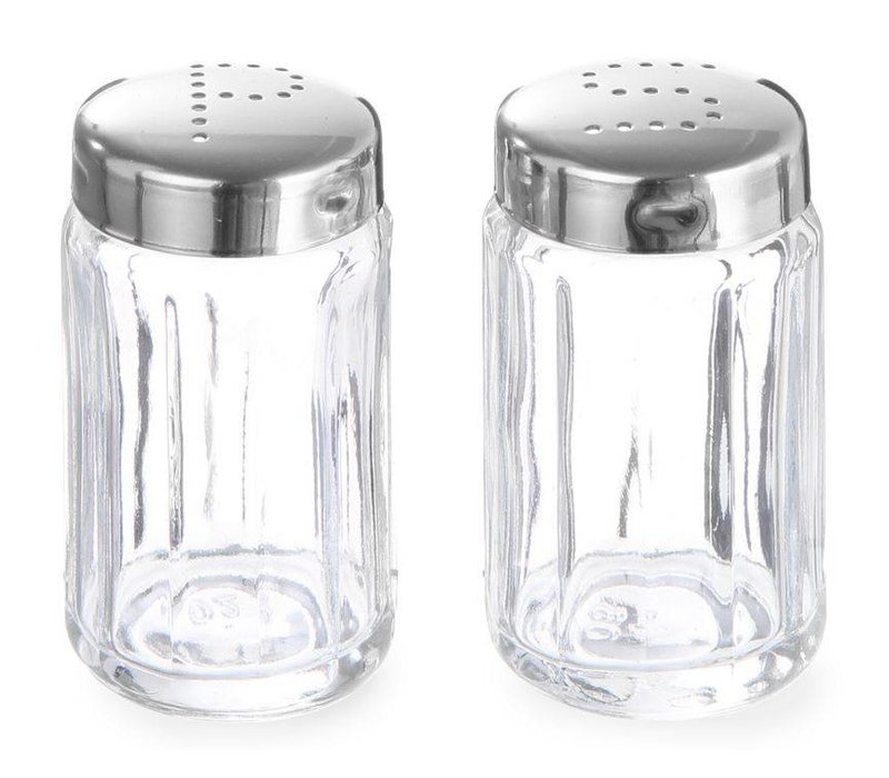 Hendi Zoutstrooier Glass   With stainless steel cap   Ø40x70mm