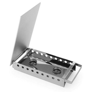 Hendi Rechaud 2-Platten-Edelstahl - 330x180x65 mm
