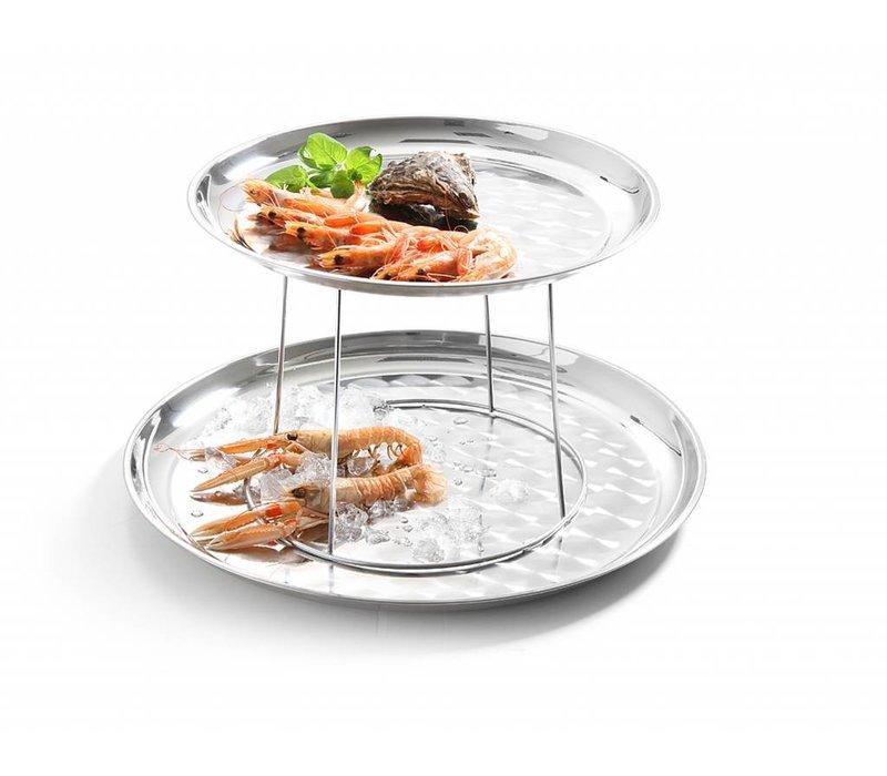 Hendi Seafood Plateau Standard | Stainless steel | Ø250-200x (H) 190mm