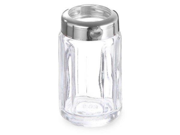 Hendi Tandenstokerhouder Glas | Met RVS Dopje | Per 6 Stuks | Ø40x(H)70mm