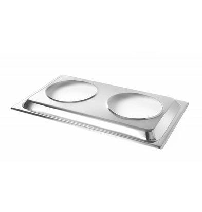 Hendi Opzetstuk voor 2x Bainmariepan - passend op GN 1/1 Chafing dish