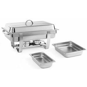 Hendi Chafing Dish Set + 5 extra Bakken   RVS   585x385x(H)315mm