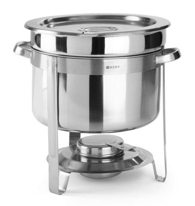 Hendi Chafing Dish for Soup | Stainless steel | 10 Liter | Ø370x (H) 345mm