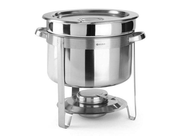Hendi Chafing Dish für Suppe | Edelstahl | 10 Liter | Ø370x (H) 345mm