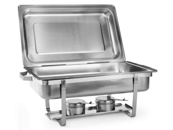 Hendi 2xChafing Dish 1/1 GN | Compleet Duopack | 9 Liter | 620x350x(H)310 mm | XXL AANBIEDING!