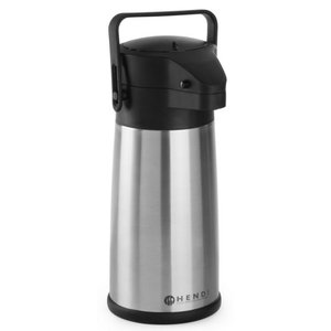 Hendi With pump 2.2 Liter Stainless Steel Airpot