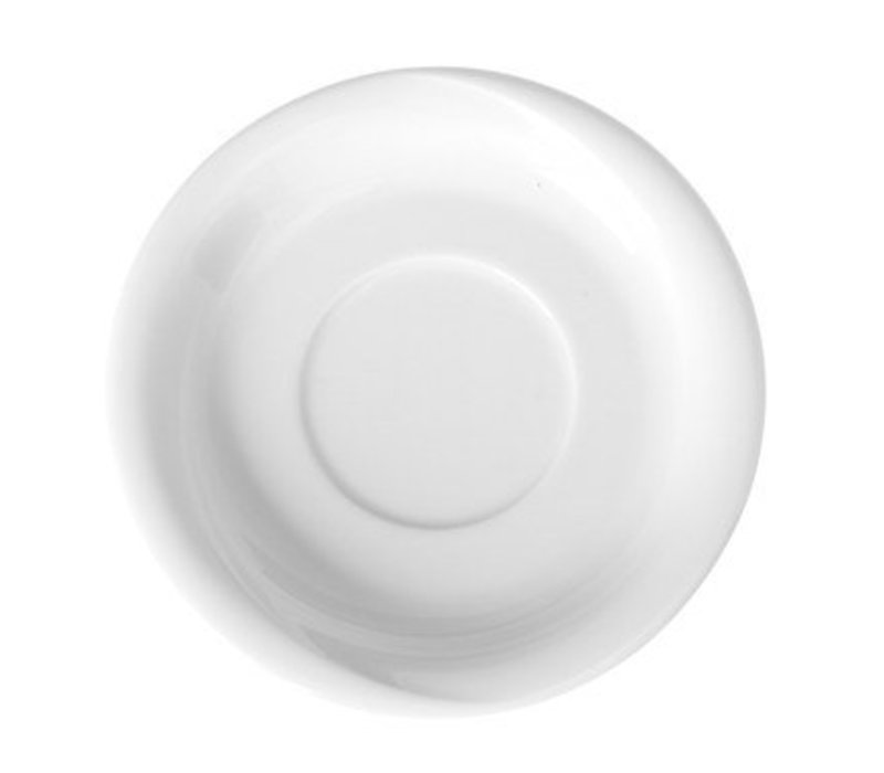 Hendi Schotel voor mokkakop Saturn - Ø125 mm - Wit - Porselein