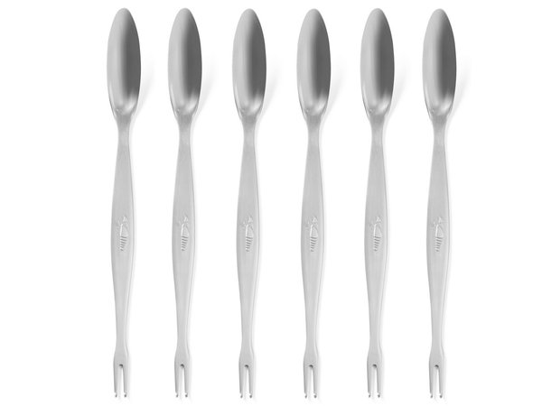 Hendi Set 6 lobster forks - stainless steel 205 mm