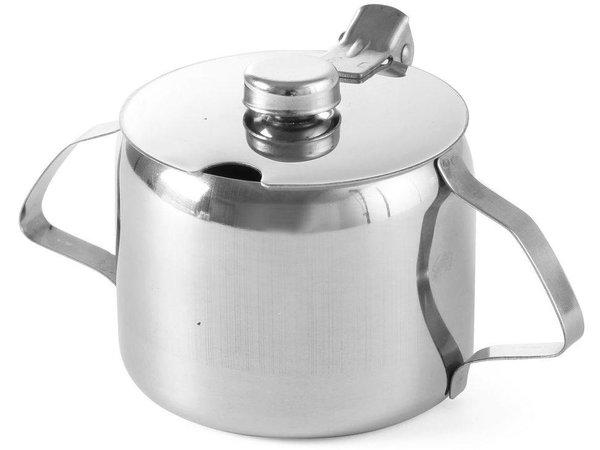 Hendi Zucker Jar Edelstahl   0,3 Liter   Mit Deckel   Ø85x (H) 80 mm