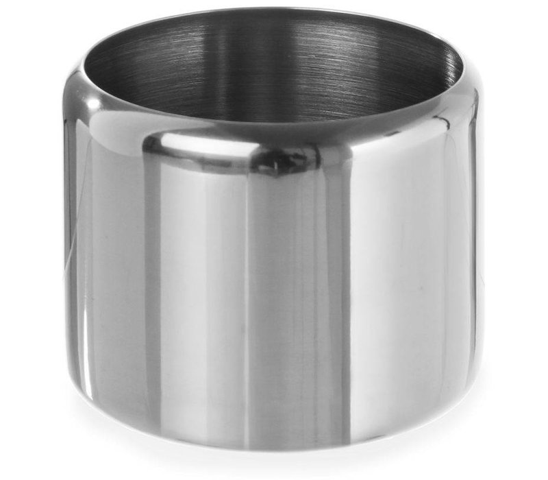 Hendi Sugar Jar Stainless Steel | 0.3 Liter | Without Lid | Ø85x (H) 65mm