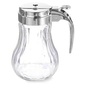 Hendi Honey Dispenser Glass | 80x115mm | Chromed Plastic Lever | Ø80x (H) 115mm