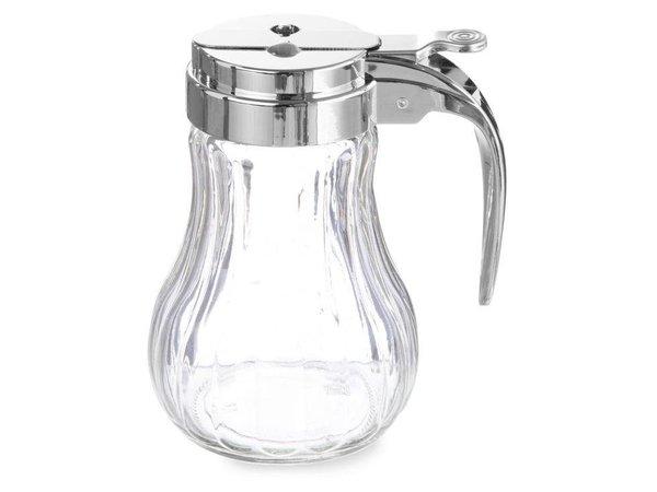 Hendi Honigspender Glas | 80x115mm | Verchromte Kunststoff-Hebel | Ø80x (H) 115mm