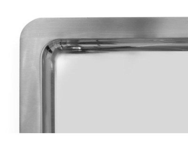 Hendi Serveerplateau | Rechthoekig | RVS | GN 1/1 | 530x325x(H)17mm