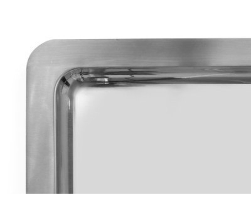 Hendi Serve Plateau | Rechteckig | Edelstahl | GN 1/1 | 530x325x (H) 17 mm