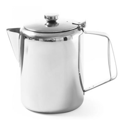 Hendi Kaffeekanne RVS | Mit Deckel 0,6 Liter | Ø97x (H) 142mm