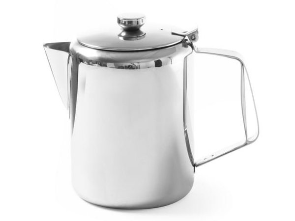 Hendi Coffeepot | Stainless steel | With Lid | 1.4 Liter | Ø126x (h) 185mm