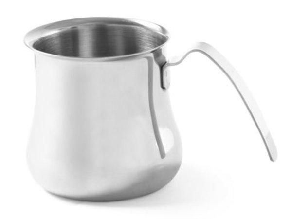 Hendi Cappuccino Dampf Kannetje | 0,7 Liter | Edelstahl | 95x105mm