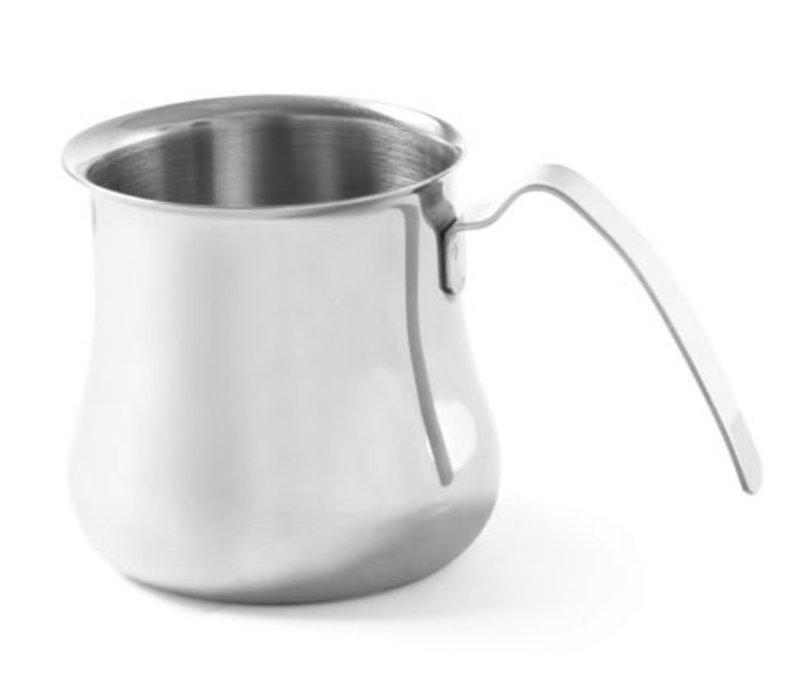 Hendi Cappuccino Stoomkannetje | 0,7 Liter | RVS | 95x105mm