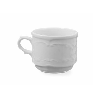 Hendi Cup 120 ml - 65x85x55 mm - Flora - Weiß - Porzellan