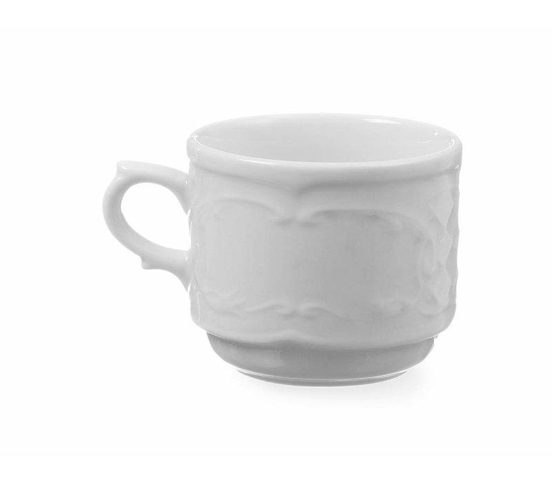 Hendi Kop 120 ml - 65x85x55 mm - Flora - Wit - Porselein