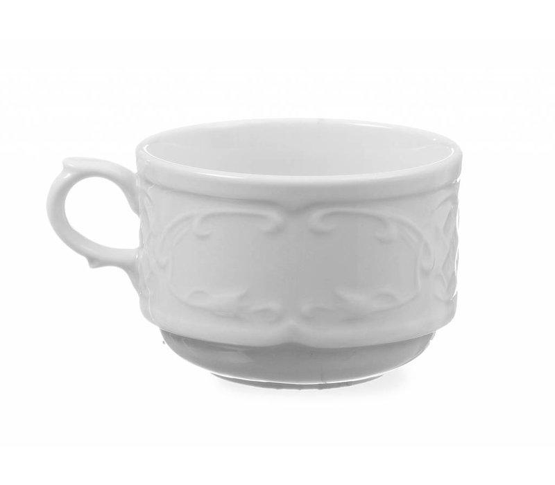 Hendi Cup 180 ml Flora - white porcelain