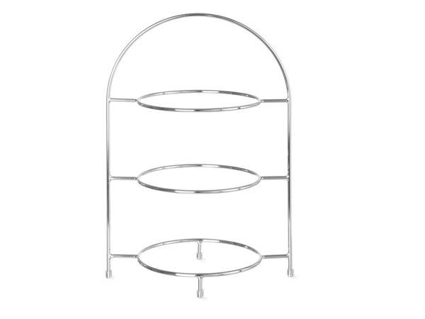 Hendi Serve Ständer für 3 Platten | Chrome | Ø170mm | 185x120x (H) 260mm
