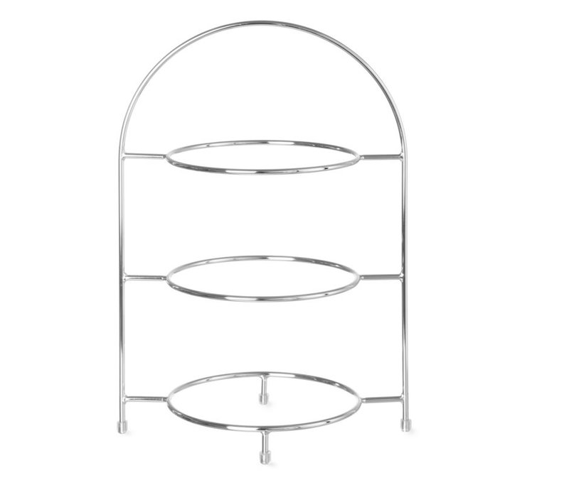 Hendi Serve Stand for 3 Plates | Max 27,5cm | Ring Size 18cm | 290x200x (H) 440mm
