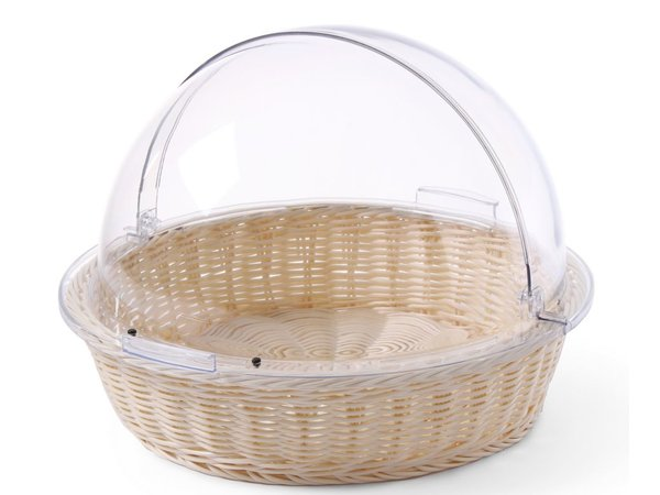 Hendi Bread Bag | Around PP Rattan | PC Roltopdeksel | 300x100 mm