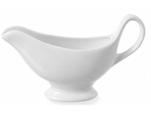 Hendi Weißes Porzellan Sauciere   Radiant White   Spülmaschinenfest   150 ml   180x55x (H) 130mm