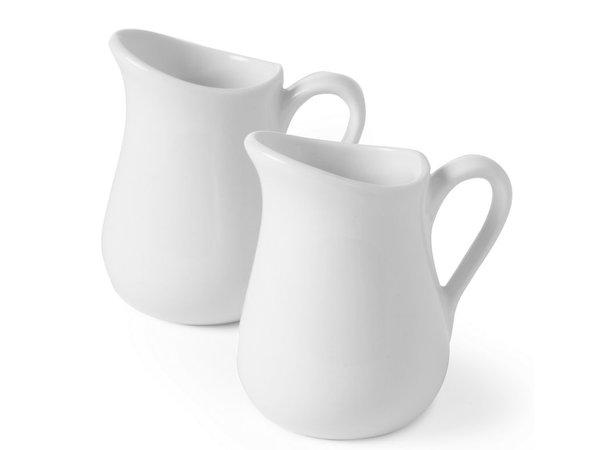 Hendi 80 ml Milchkännchen - Set 2 - Weiß - Porzellan