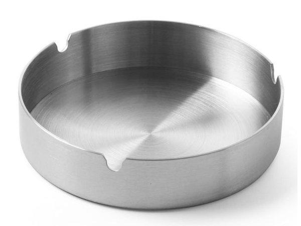 Hendi Edelstahl Aschenbecher | Stapelbar | Ø120x (H) 28 mm