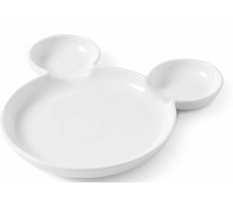 Hendi Children Plate Beer - 250x25 mm - White - Porcelain