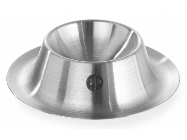 Hendi Eierdopje Low   Stapelbar   Edelstahl   Pro 6 Stück   Ø85x (H) 15 mm