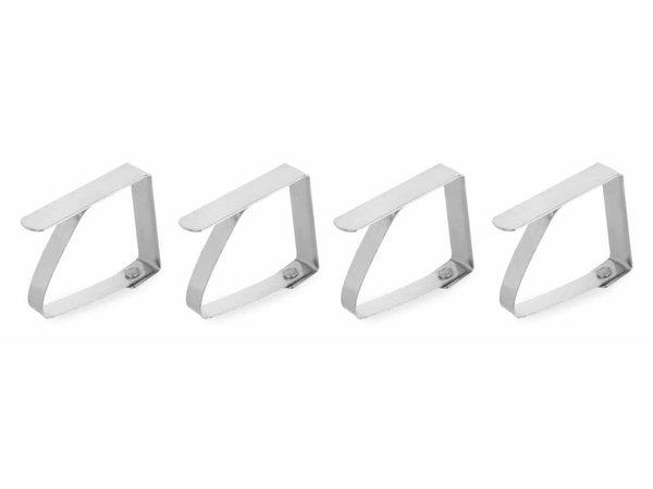 Hendi Tischdecke Clip | Stahl, Chrom | 50x40mm