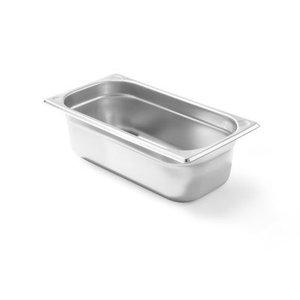 Hendi Gastronormbak RVS 1/4 - 100 mm | 265x162mm