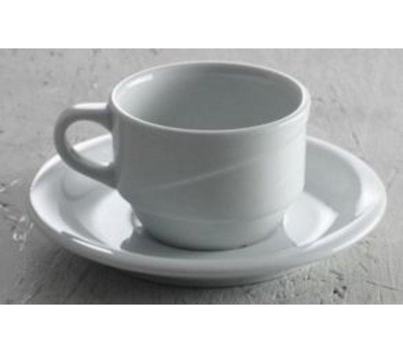 Hendi Koffiekop 170 ml Exclusiv - 100x80x55 mm wit porselein