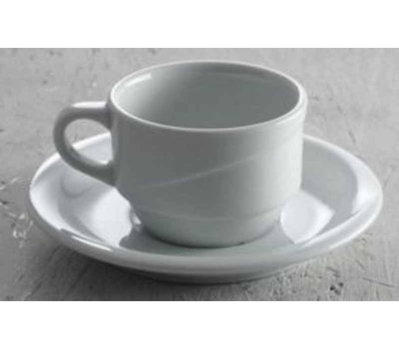 Hendi Dish 120x20 mm Exclusiv - For 90 ml white porcelain cup
