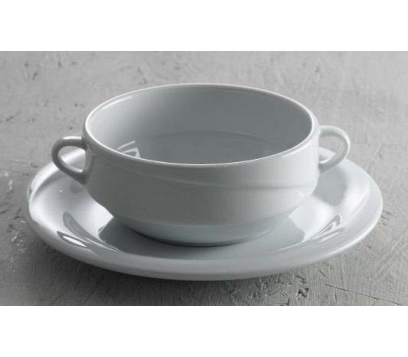 Hendi Dish - 190x20 mm - Exclusiv - Für Suppenschale - Weiß - Porzellan