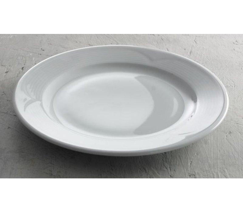 Hendi Bord plat - 240x25 mm Saturn - Wit - Porselein