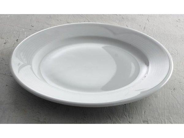 Hendi Foren-Flach - 300x25 mm - Saturn - Weiß - Porzellan