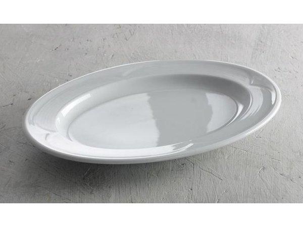 Hendi Scale - Oval - Saturn - 290x200x30 mm - Weiß - Porzellan
