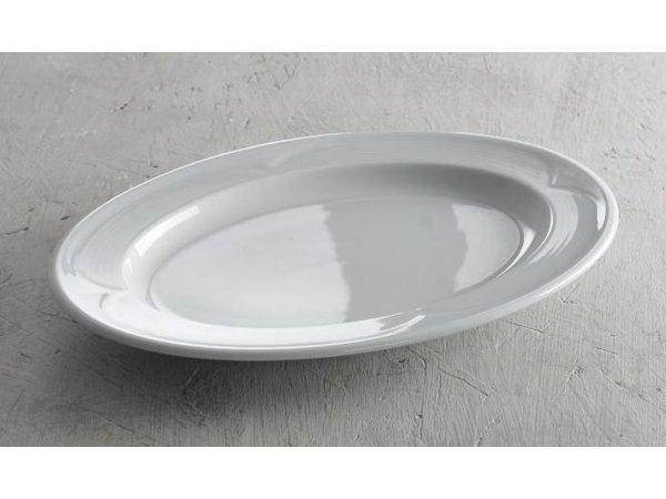 Hendi Schaal - Ovaal - Saturn - 290x200x30 mm - Wit - Porselein