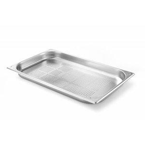 Hendi Gastronormbak RVS 1/1 - 40 mm | 325x530mm | Perforiert