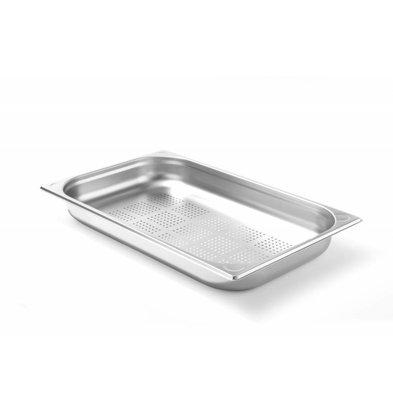 Hendi Gastronormbak RVS 1/1 - 65 mm | Geperforeerd | 325x530mm