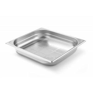 Hendi Gastronormbak RVS 2/3 - 65 mm | Geperforeerd | 325x354mm
