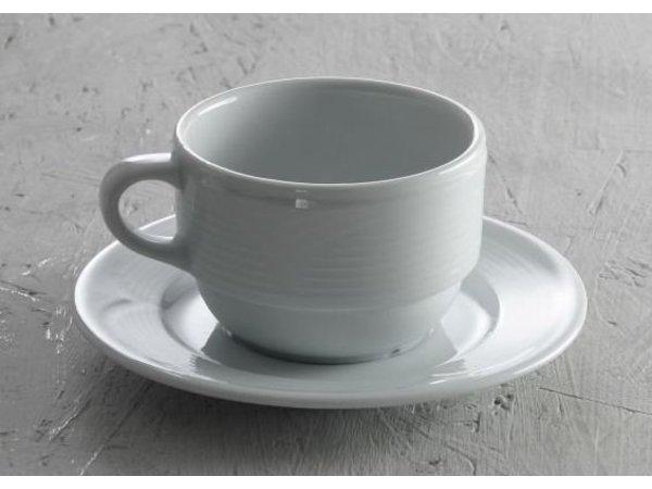 Hendi Untertasse für Kaffeetasse - Saturn - Ø150 mm - Weiß - Porzellan