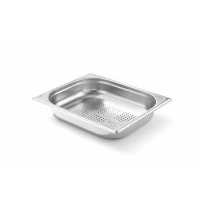 Hendi Gastronormbak RVS 1/2 - 65 mm | Geperforeerd | 325x265mm