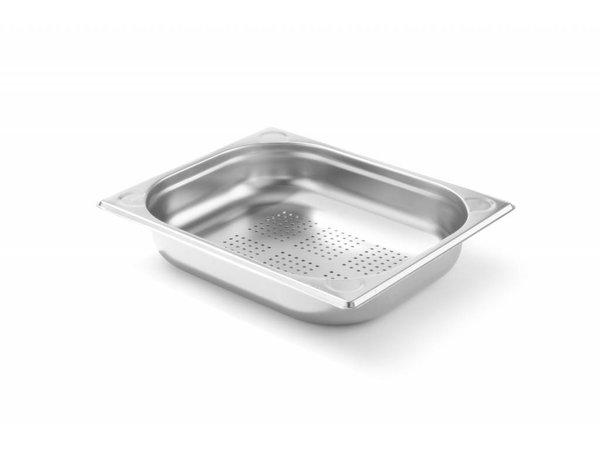 Hendi Gastronormbak RVS 1/2 - 65 mm | Perforated | 325x265mm