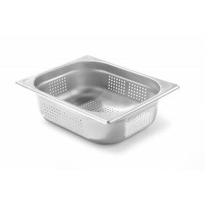 Hendi Gastronormbak RVS 1/2 - 100 mm | Geperforeerd | 325x265mm